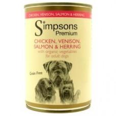 Simpsons Premium umido cane, pollo,cervo,salmone,aringa 400gr