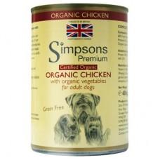 Simpsons Premium umido cane BIO, pollo patate e verdure 400gr