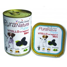 Dalla Grana Pura Natura umido Puppy cane 150/400gr vitello e more