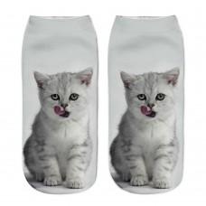 Mini calza donna stampa Gattino Persiano
