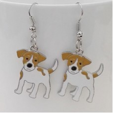 Earring Pendant dog breed Jack Russel