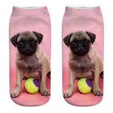 Mini calza donna stampa Cane razza Carlino