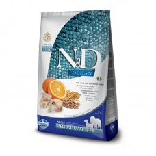 Farmina N&D Ocean Adult  Medium&Maxi  Merluzzo, farro, avena e arancia 2,5 KG