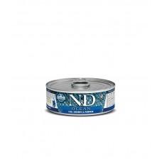 Farmina N&D ocean umido kitten tonno, merluzzo, gamberetto e zucca 80gr